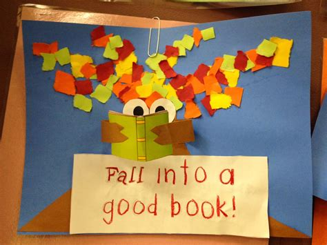 Second Grade Thrills Fall Into A Good Book Fall Into A Book Template
