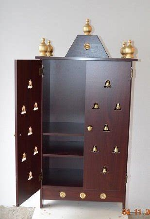 pooja mandir diy ikea amazon com elegant home puja mandir cabinet with 3 stars