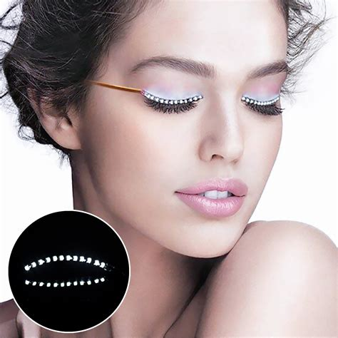 lights lashes eyeliner amazon com mooxury led eyelashes f lashes luminous