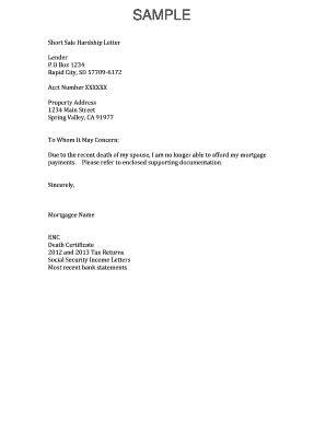 Divorce Hardship Letter For Sale hardship letter template sale letter template 2017