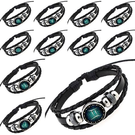 Gelang Zodiac Taurus Leather Bracelet 1 popular scorpio cancer buy cheap scorpio cancer lots from