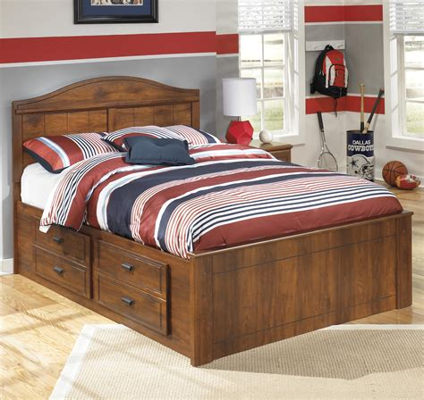 signature design  ashley barchan full panel bed  underbed storage household furniture