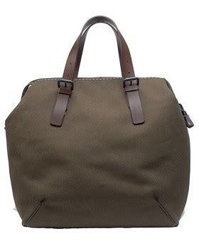 Bottega 2007 Essentials by Bottega Veneta Canvas Leather Holdall Alain R Truong