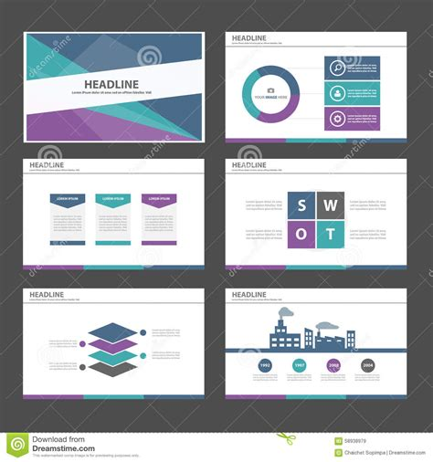 design elements when creating slides green purple blue infographic element and icon