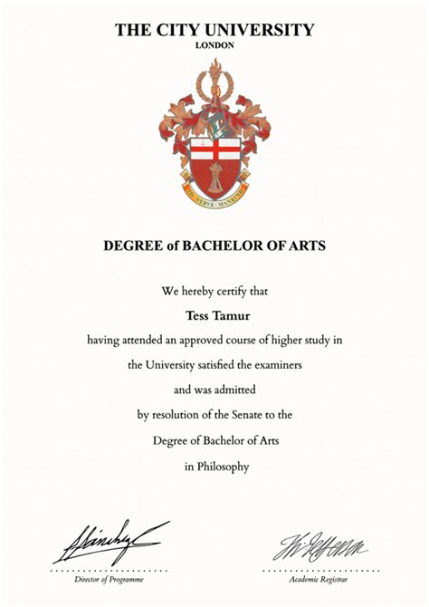 Phd Template Of Leicester Degree Certificate Academic Certificate Frame For