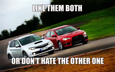 Evo Meme - the sti evo war is not common on ct but is on other sites