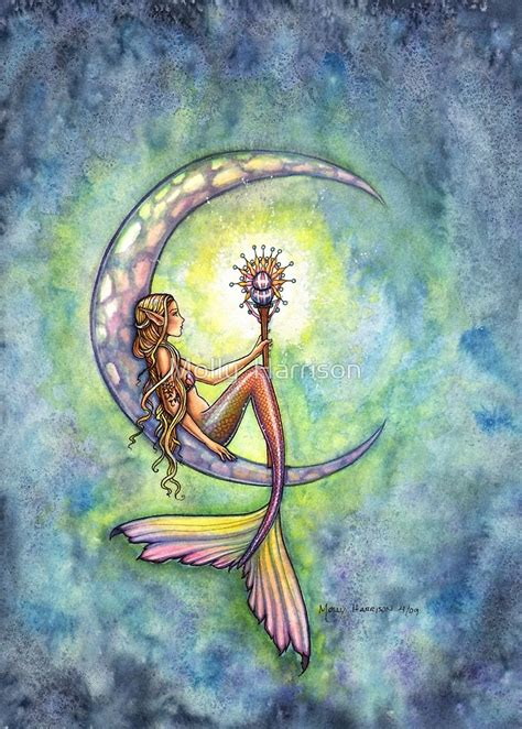quot quot mermaid moon quot mermaid art by molly harrison quot by molly