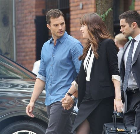 Fifty Shades Darker Filming In June | jamie dornan dakota johnson and crew filming fifty