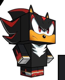 Shadow Papercraft - shadow sonic the hedgehog free papercraft pattern all