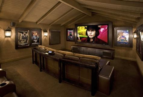 movie theater decor for the home decorating a stylish comfy movie room