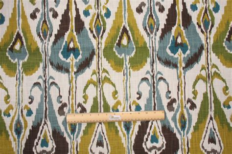 robert allen drapery fabric robert allen ikat bands printed slubbed cotton drapery