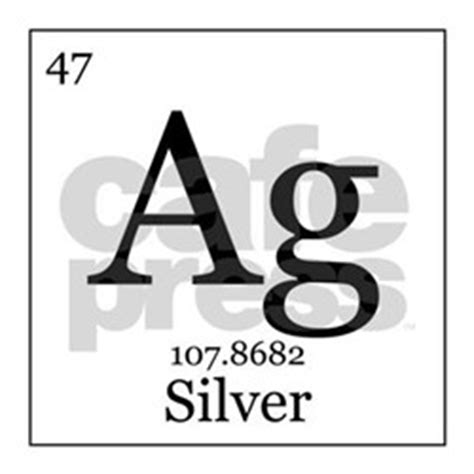Ag Symbol Periodic Table by Periodic Table Silver Car Accessories Auto Stickers