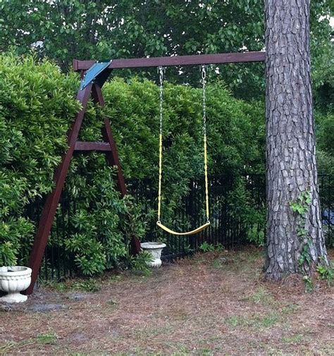 natural swing how to make good use of a tree and a small backyard no