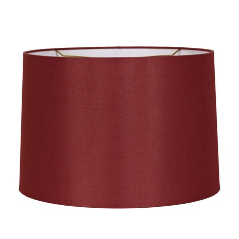 red drum l shade 15 quot silk drum shade shades of light