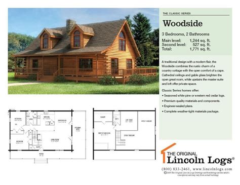lincoln log homes floor plans lincoln log floor plan home