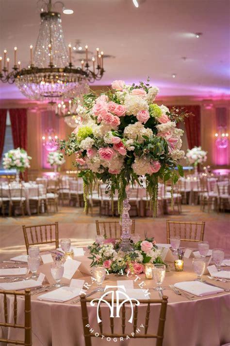 Tami Set Pink tami winn events creates a beautiful reception using white