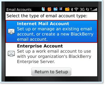 reset blackberry email address configure your email address on your mobile device email