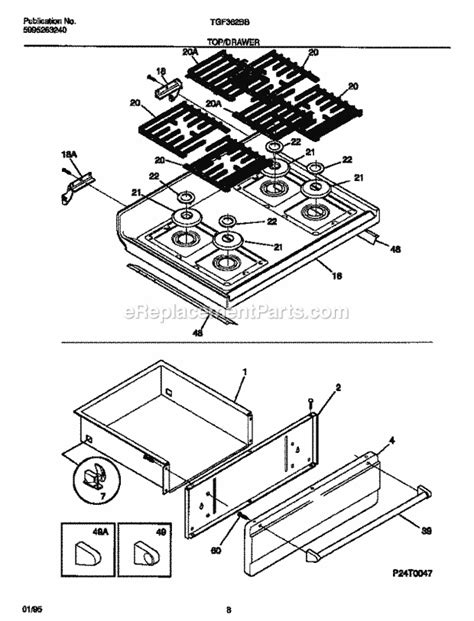 tappan cooktop replacement parts tappan tgf362bbba parts list and diagram