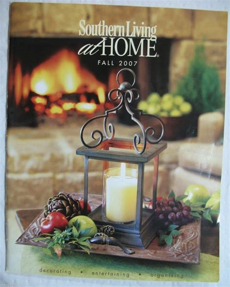 catalog shopping home decor southern living at home fall 2007 catalog decorating