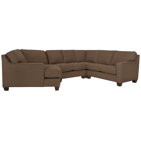 left cuddler sectional city furniture york dk brown fabric small left cuddler