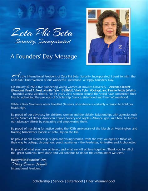 message for s day happy 94th founders day zeta phi beta sorority inc