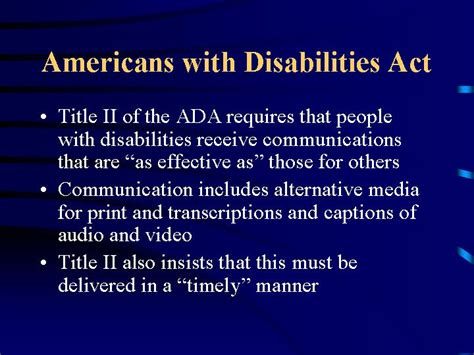 americans with disabilities act section 504 slides and notes for