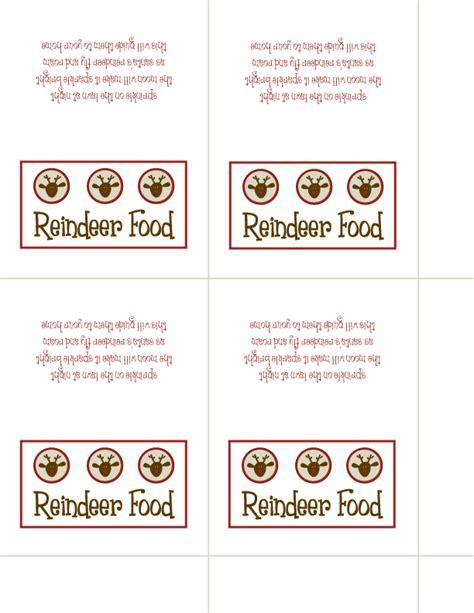 printable reindeer food poems 5 best images of reindeer food printable template