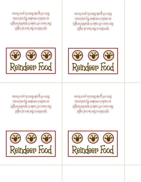 magic reindeer food poem template 5 best images of reindeer food printable template