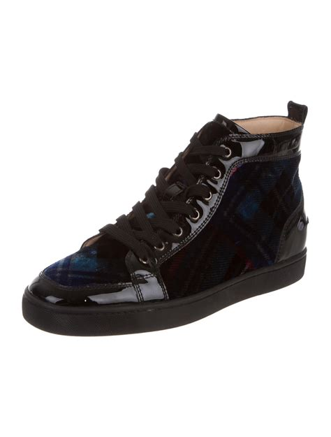 christian louboutin orlato velvet sneakers shoes cht70061 the realreal
