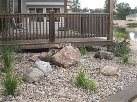 rock bed rock beds mulch beds landscape creations fremont ne