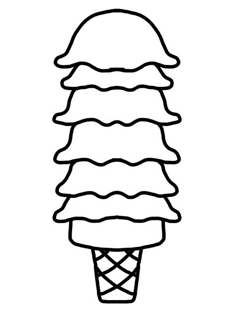 blank ice cream cone outline clip art clipart best
