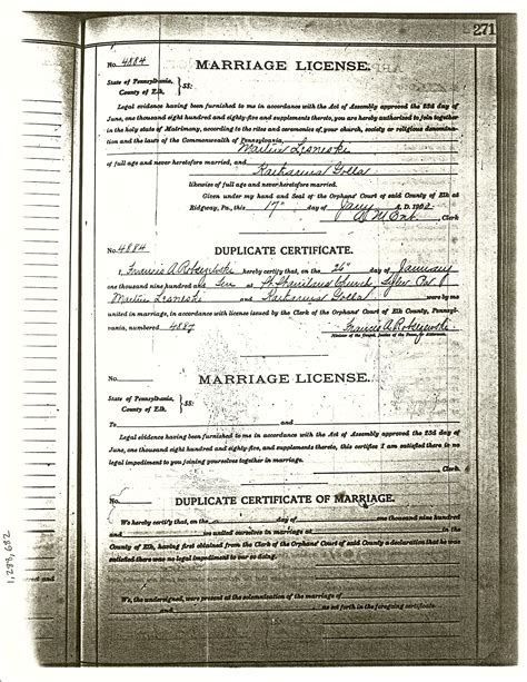 Cambria County Marriage Records Second Generation Golla Family History