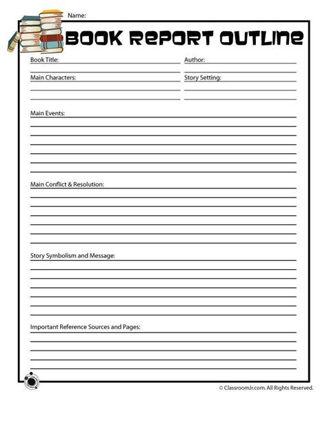 5th grade book report outline book report forms for 5th grade search results