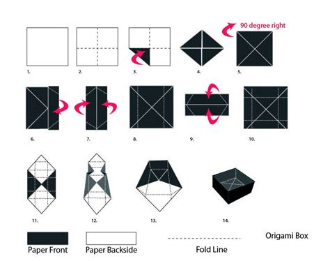 Fold A Box From Paper - diy origami gift box paper craft