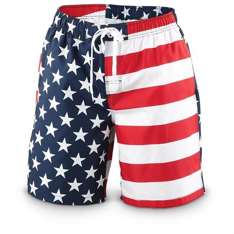 swim trunks guide gear american flag swim trunks 621867 swimsuits at sportsman s guide