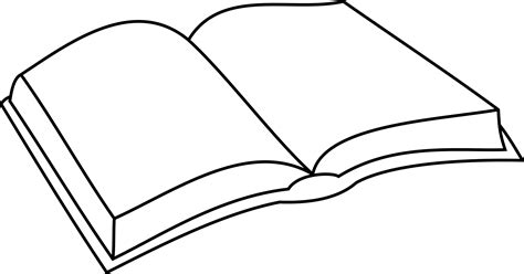 Outline Of A Open Book by Open Book Outline Image Clipart Best