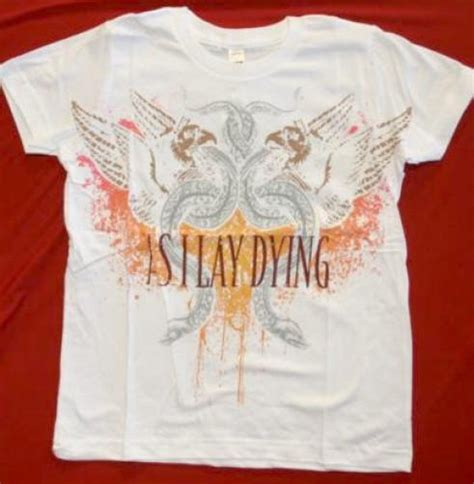 As I Lay Dying 16 T Shirt Size M as i lay dying t shirt white slim fit size xl rock band patches