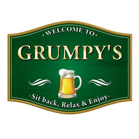 Home Bar Signs Jaf Graphics Traditional Barrel Shaped Pub Home Bar Sign