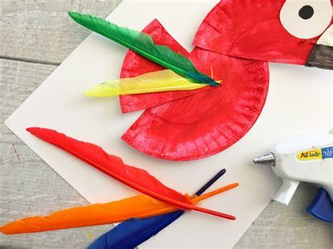 Parrot Paper Plate Craft - parrot paper plate craft for rainforest craft idea