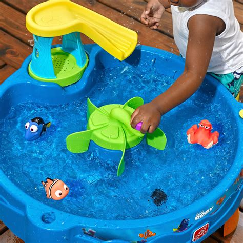 how to play the fish table finding dory swim swirl water table sand water