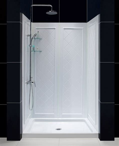 Shower Base Kits by Dreamline Infinity Shower Door Base And Backwalls