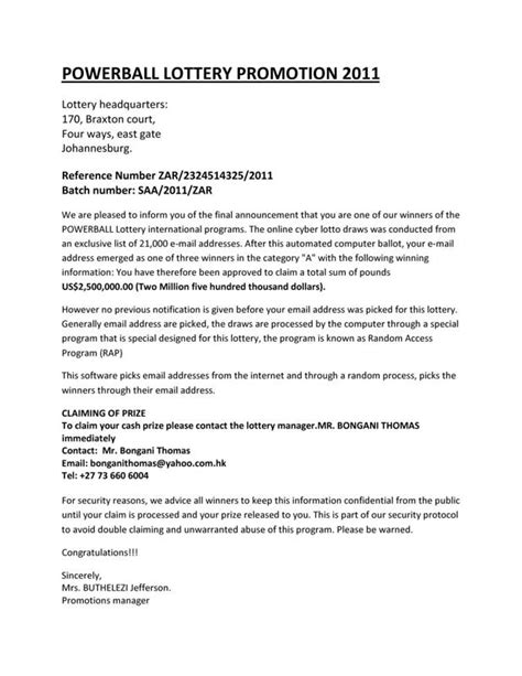 Official Letter With Subject Scam Email Official Letter View Attach Below From Mrs Buthelezi Jefferson Scamdex