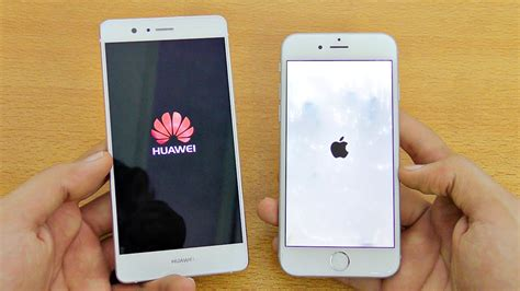 huawei p9 lite vs iphone 6 speed test 4k