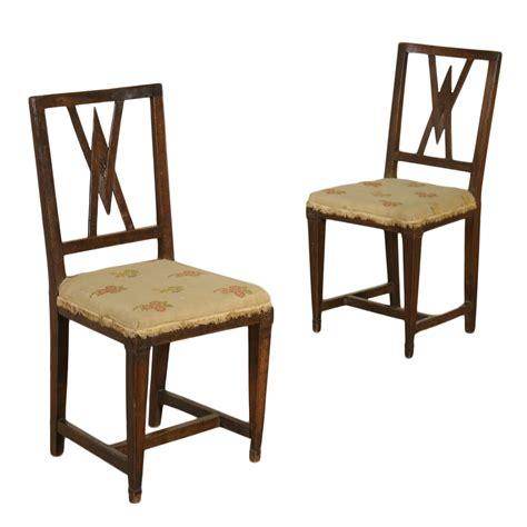 antiquariato sedie coppia di sedie neoclassiche sedie poltrone divani