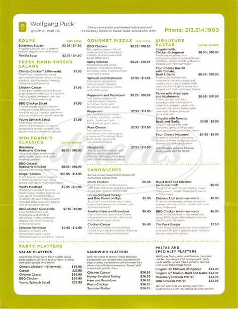 haircut express prices wolfgang puck express menu westchester dineries