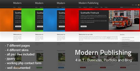 themeforest publisher modern publishing themeforest