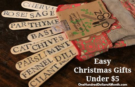 easy christmas gifts garden gloves and plant markers