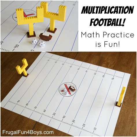 multiplication football make math fact practice
