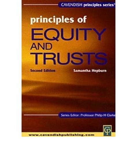 the principles of equity principles of equity and trusts law