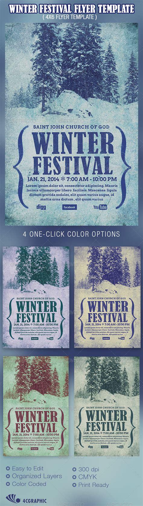 Winter Festival Flyer Template Graphicriver Graphicriver Event Flyer Template